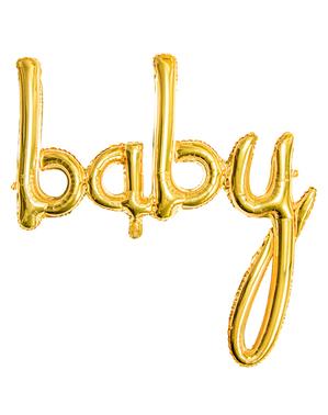 Balão Baby ouro rosa (73 cm)