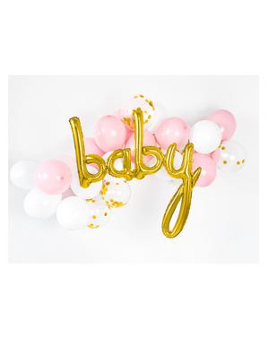Baby ballong i rosegull (73 cm)
