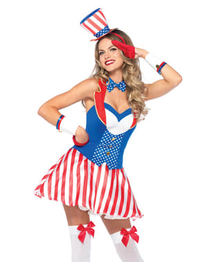 Déguisement Miss Amérique femme
