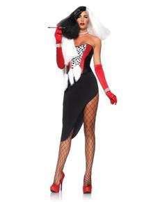 Womenu0027s Cruella the Diva Costume  sc 1 st  Funidelia & 101 Dalmatians Costumes . Express delivery   Funidelia