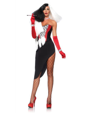Costum de divă Cruela pentru femeie