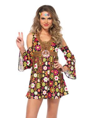 Déguisement hippie séductrice femme