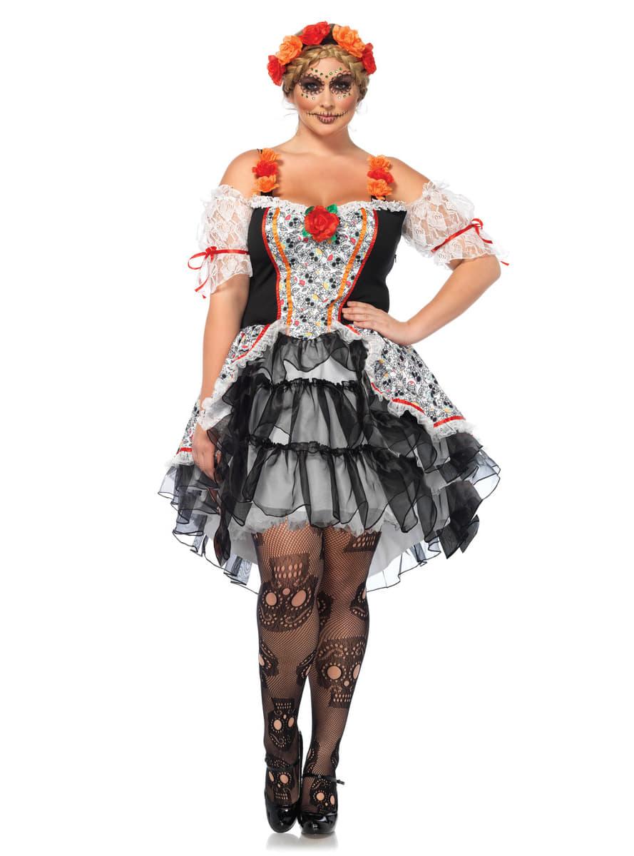 Disfraz de Catrina. Traje de calavera mexicana  db4c7265282