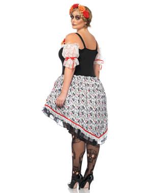 Catrina kostuum voor vrouw grote maat