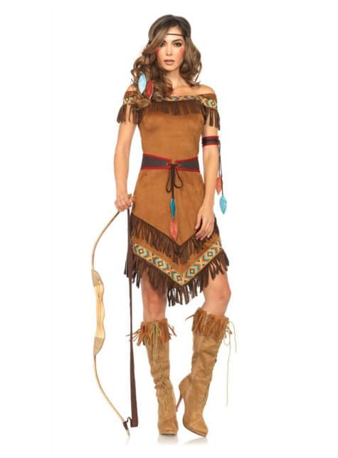 Indianer Prinzessin Kostüm für Damen