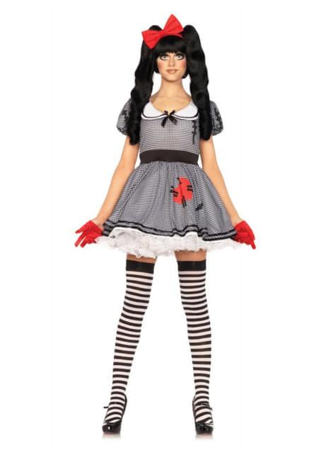 Disfraz de muñeca de cuerda encantadora para mujer