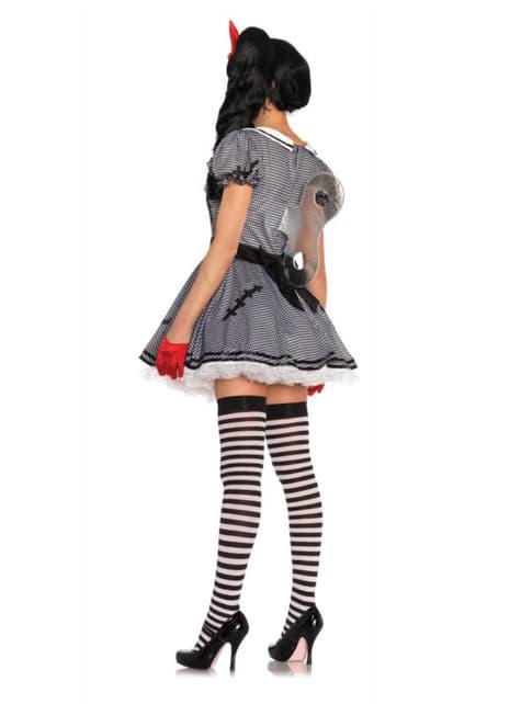 Disfraz de muñeca de cuerda encantadora para mujer - mujer