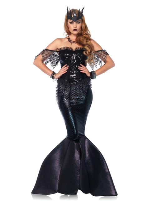 Disfraz de sirena gótica para mujer