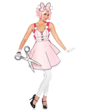 Women's Adorable Paper Doll Costume