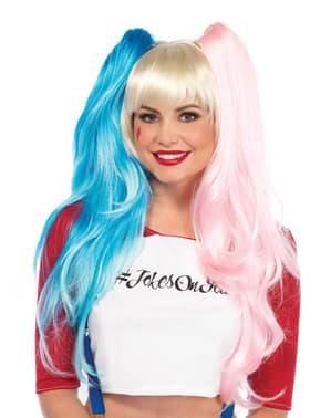Parrucca da psicopatica blu e rossa per donna