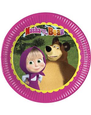 8 talířů Máša a medvěd (20 cm)