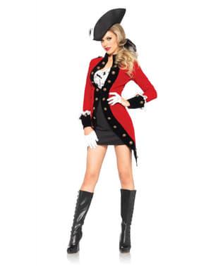 Fato de capitã rebelde para mulher