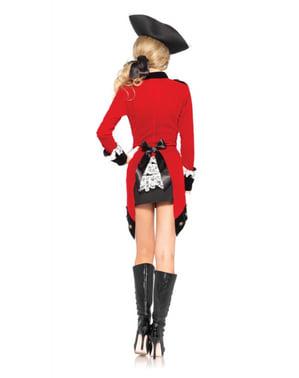 Rebellische Kapitänin Kostüm für Damen