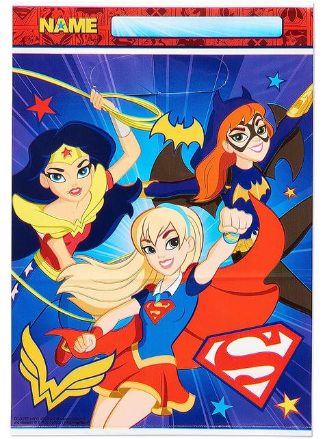8 bolsas de chucherías de DC Super Hero Girls