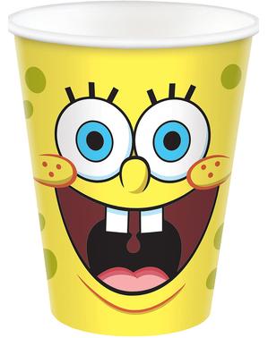 8 SpongeBob Pappbecher