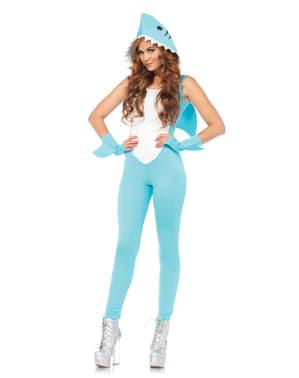 Costum de rechin sexy dar feroce pentru femeie