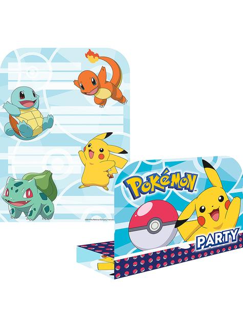6 Zaproszenia Pokemon