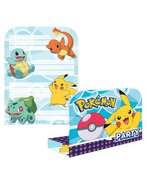 6 inbjudningskort Pokémon