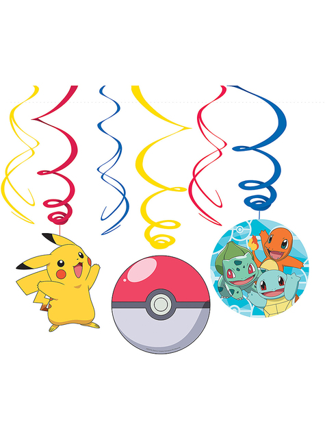 12 espirales colgantes de Pokémon
