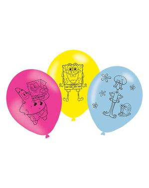 6 balões de Bob Esponja