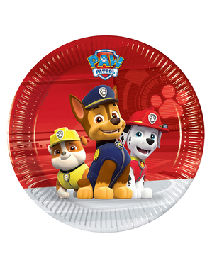 8 Paw Patrol Plates (20cm) - Ready For Action