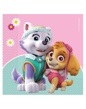 20 Paw Patrol Skye & Everest Servetter (33x33cm)