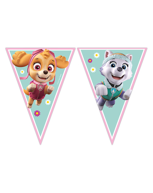 Paw Patrol Skye & Everest flaggor