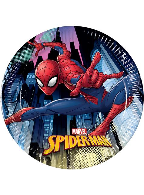 8 Spiderman Plates (20cm)