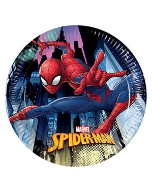 8 Spiderman tallerkener (20cm)