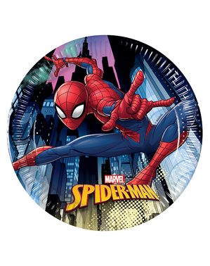 8 Spiderman Tallerkner (20cm)