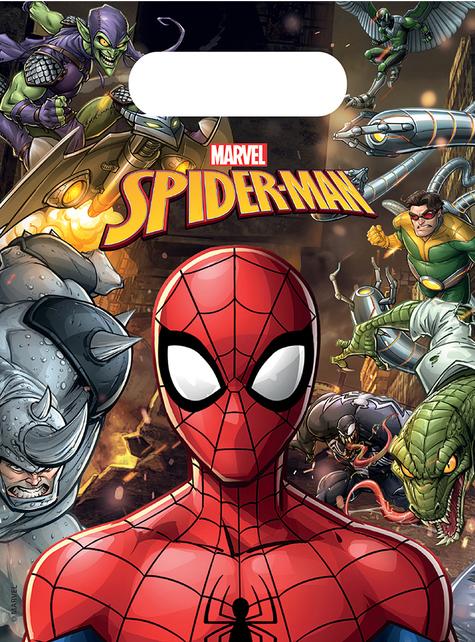 6 bolsas de chucherías de Spiderman