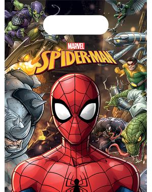 6 sachets à bonbons Spiderman