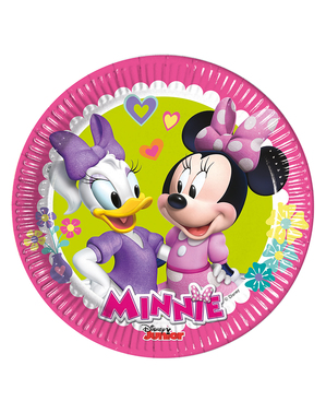 8 Minnie Mouse and Daisy Plates (20cm)