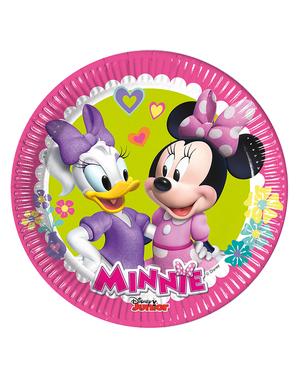 8枚のミニーマウスとデイジープレート(20センチメートル)