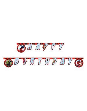 "Ghirlandă buburuză ""Happy Birthday"" de buburuză - Miraculous Ladybag"