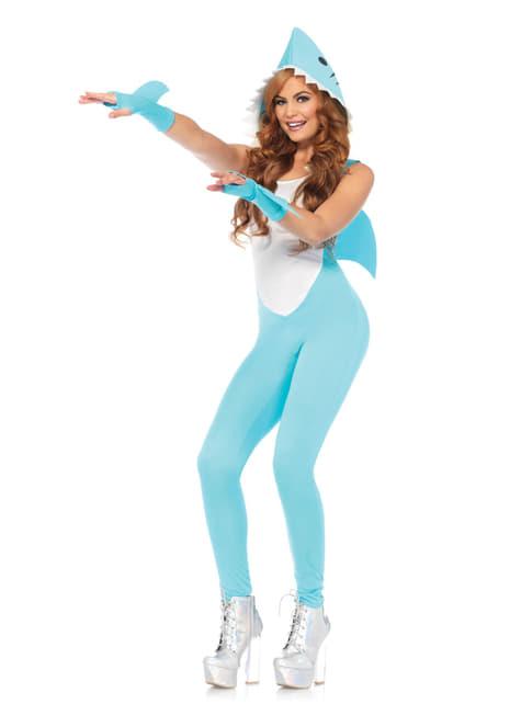 Disfraz de tiburón sexy pero feroz para mujer - original