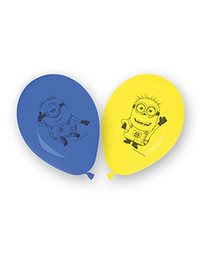 8 ballons Minions (27 cm) - Lovely Minions