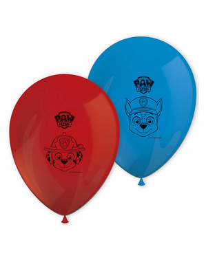 8 ballons la Pat'Patrouille (27 cm) - Paw Patrol Ready For Action