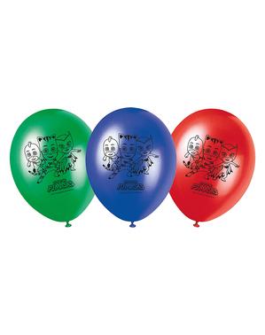 8 balónků Pyžamasky (27 cm)