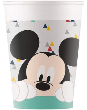 8 bicchieri Topolino - Mickey Awesome