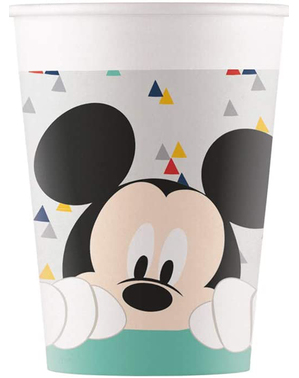 8 Micky Maus Pappbecher - Mickey Awesome