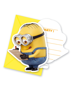 6 invitations Minions - Lovely Minions