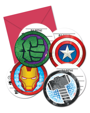 6 invitations Avengers - Mighty Avengers