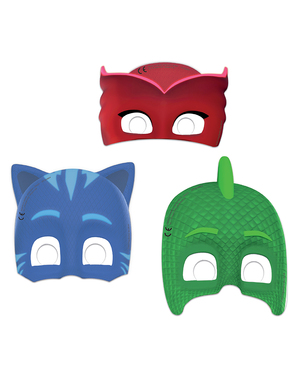 6 masker PJ Masks Pyjamashjältarna