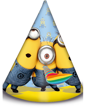 6 Minions Birthday Party Hats - Lovely Minions