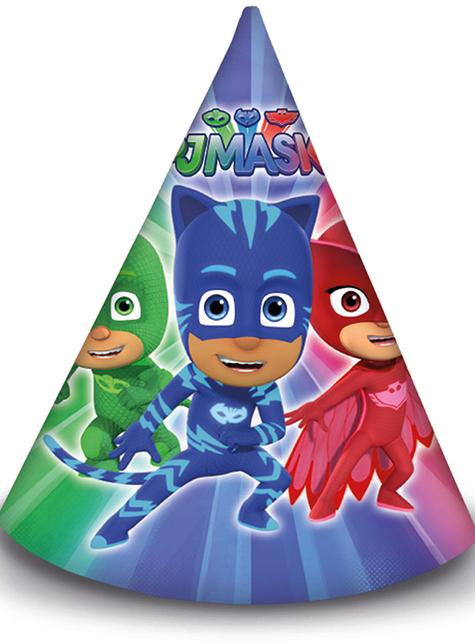 6 gorritos de cumpleaños de PJ Masks