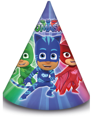 6 PJ Masks Party Hats