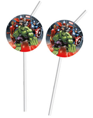 4 Avengers Straws - Mighty Avengers