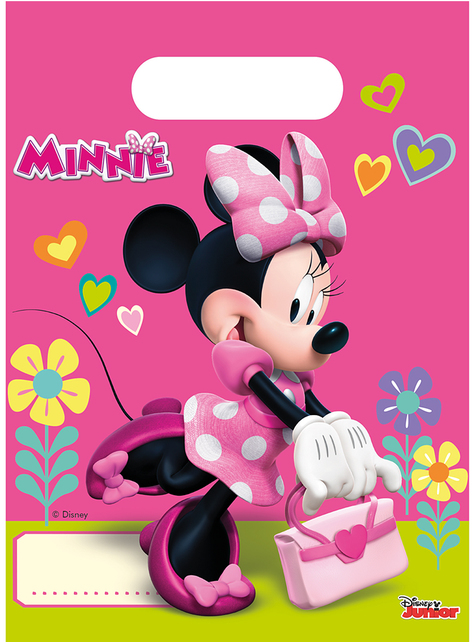 6 Minnie Mouse Party Bags - Minnie Happy Helpers