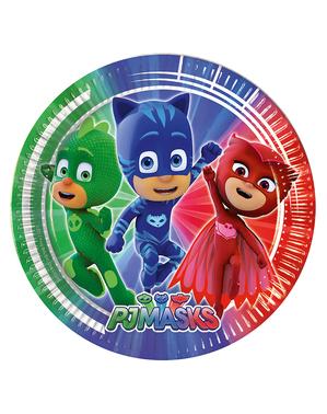 8 tallrikar PJ Masks Pyjamashjältarna (23 cm)